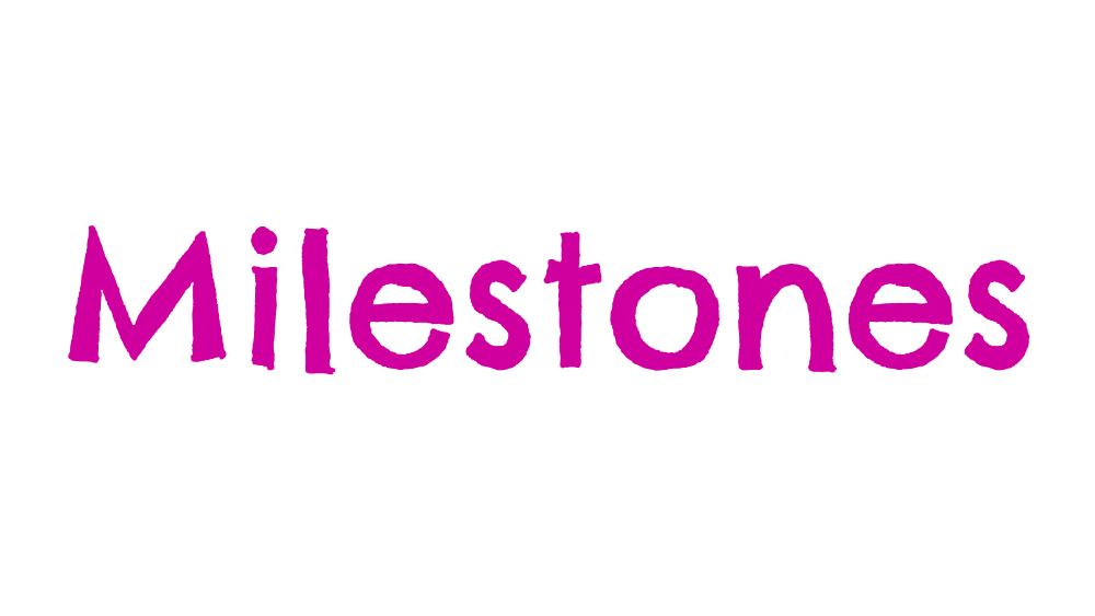 The word 'milestones'