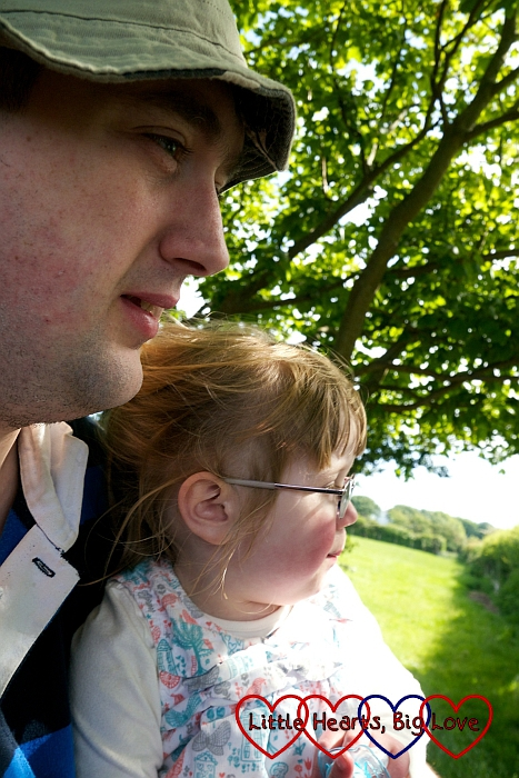 Hubby and Jessica sitting admiring the view from the horse and cart