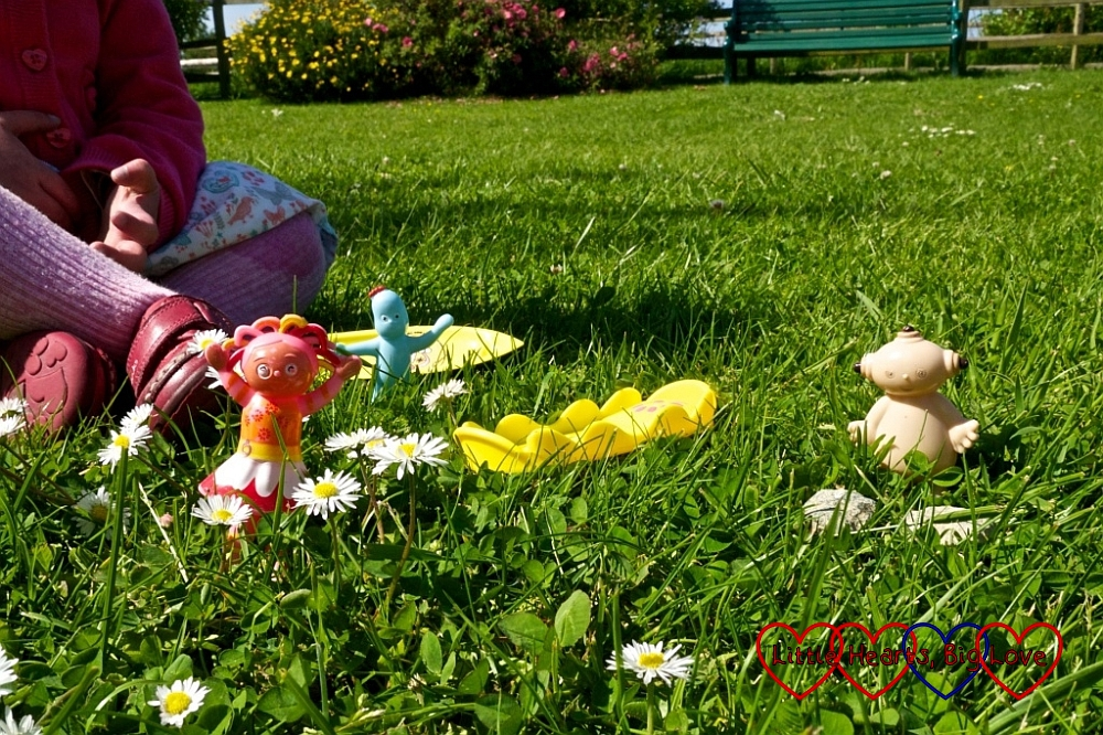 Jessica recreating In the Night Garden in the park