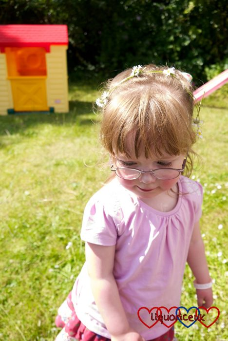 Jessica with a daisy chain in her hair