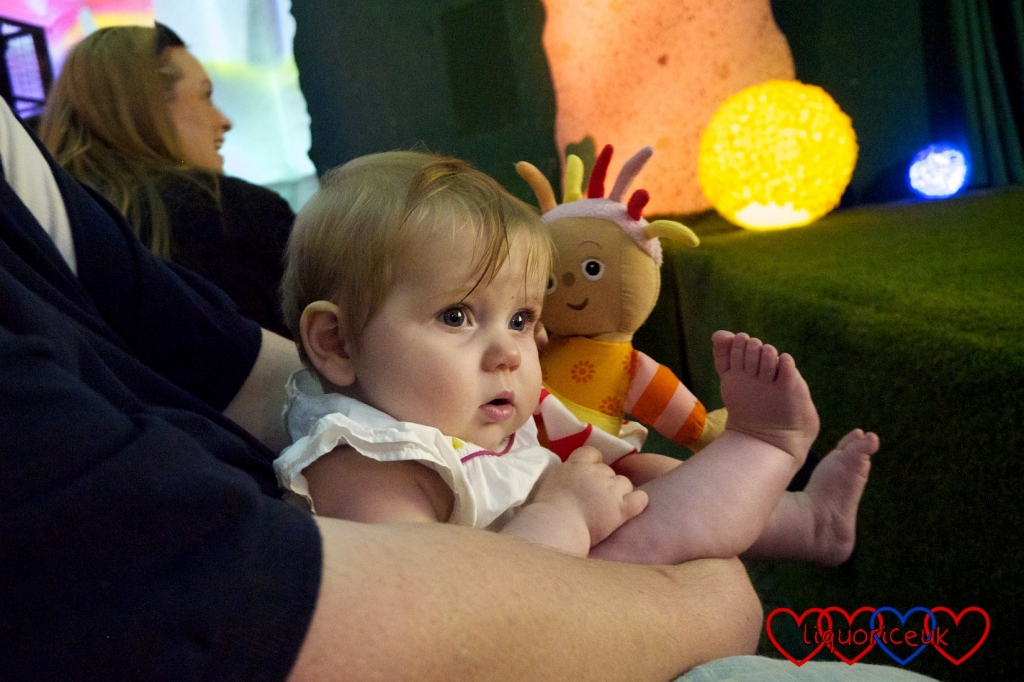 Sophie watching In the Night Garden Live