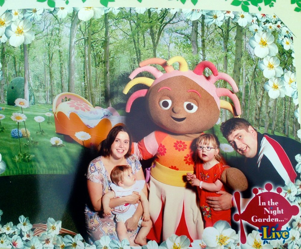 Me, Jessica, Sophie and hubby with Upsy Daisy