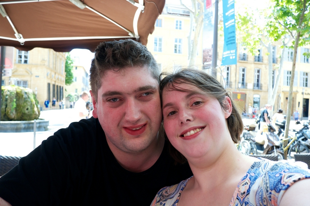 A selfie of me and hubby on holiday in France
