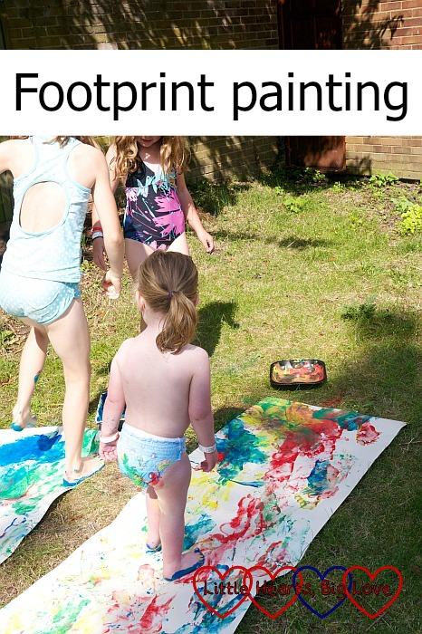 Footprint painting - Little Hearts, Big Love