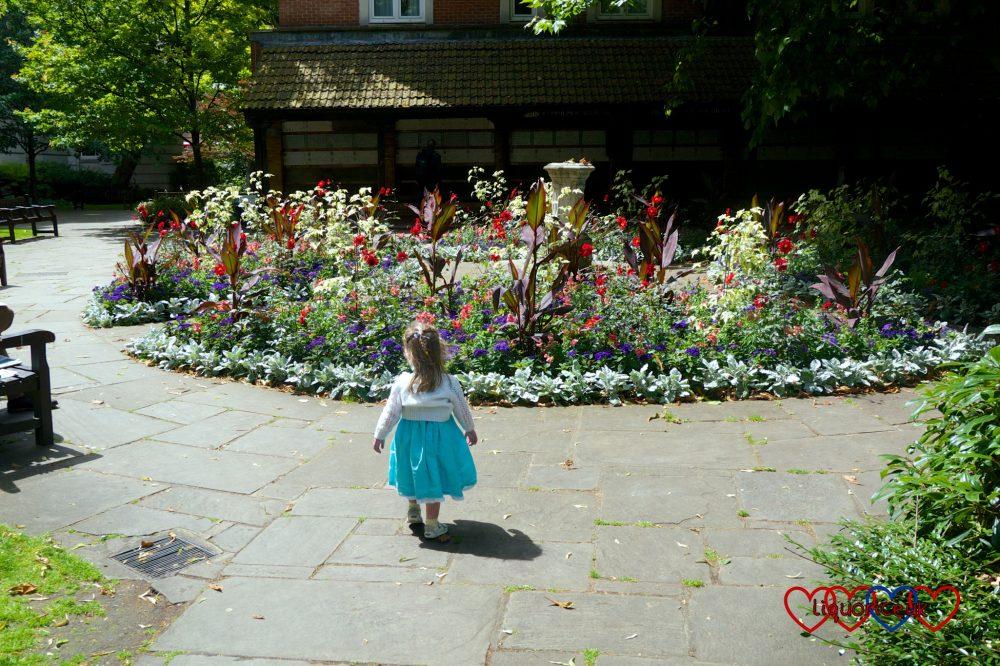 Jessica exploring Postman's Park