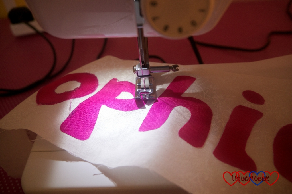Craft project: Name Cushion - Little Hearts, Big Love