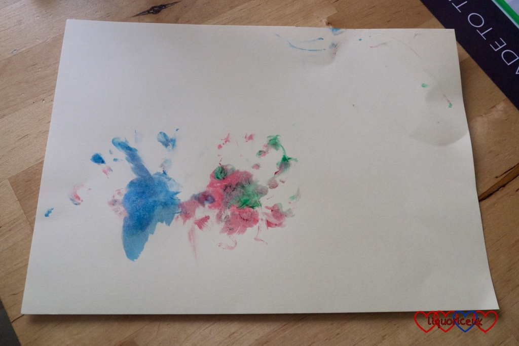 Sophie's handprint painting