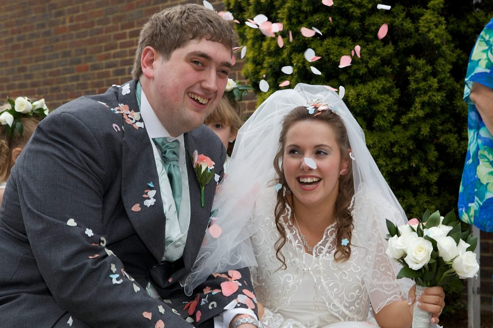 Me and hubby on our wedding day