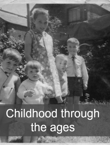 """A photo of my two oldest siblings with their cousins back in the 1960s - """"Childhood through the ages"""""""