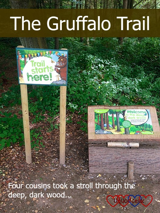 The start of the Gruffalo trail at Alice Holt Forest