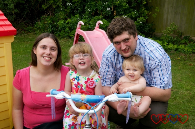 Me, hubby, Jessica and Sophie on Jessica's 3rd birthday