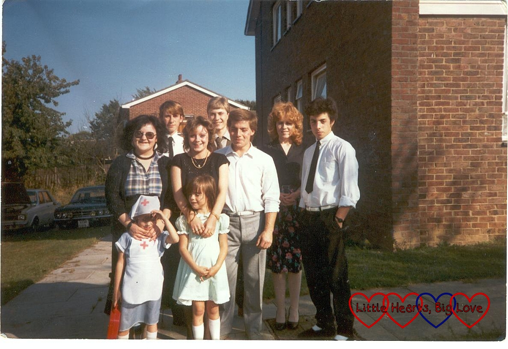 Me as a child with my brothers and sisters back in 1985
