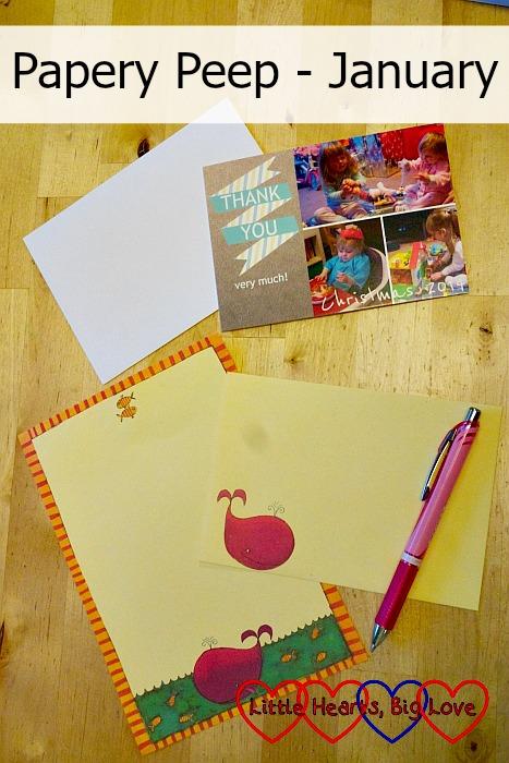 Papery Peep (January) - Little Hearts, Big Love
