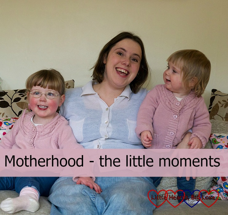 """Me, Jessica and Sophie sitting on the sofa together - """"Motherhood - the little moments"""""""