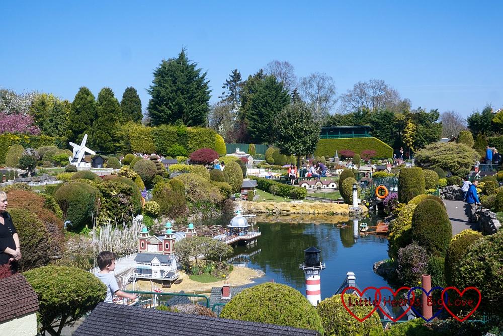 A view across Bekonscot model village