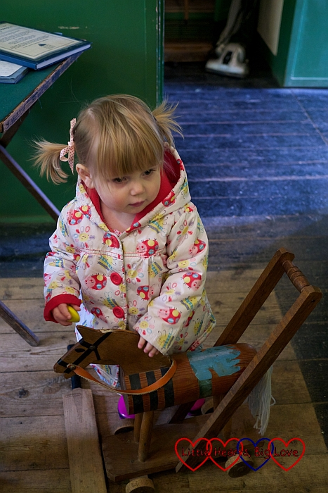 Investigating the children's toys at the Chiltern Open Air Museum - Little Hearts, Big Love