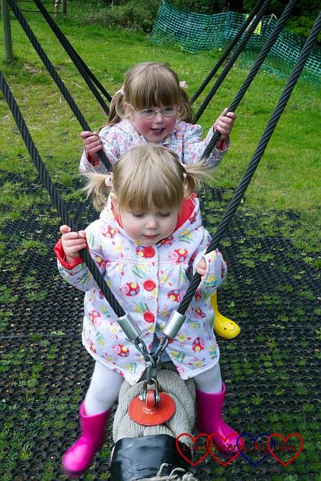 Exploring the playground at the Chiltern Open Air Museum - Little Hearts, Big Love