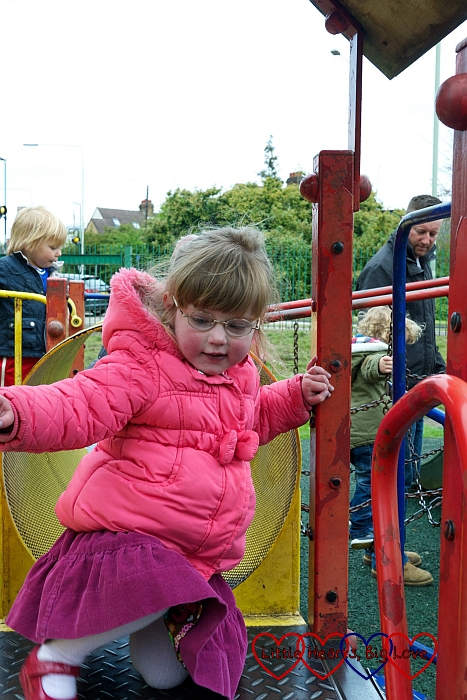 Exploring the play area at Rickmansworth Aquadrome - Little Hearts, Big Love