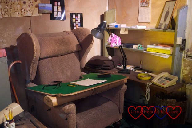 The inside of Roald Dahl's writing hut
