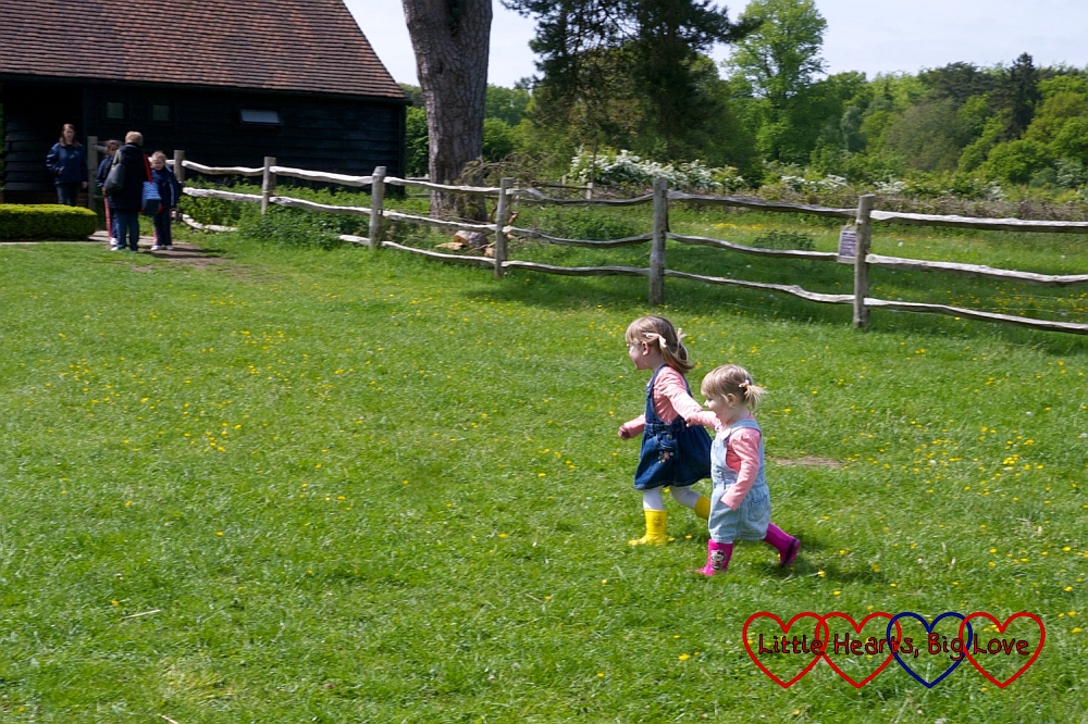 Two little girls running hand-in-hand: The Friday Focus 22/05/15 - Little Hearts, Big Love
