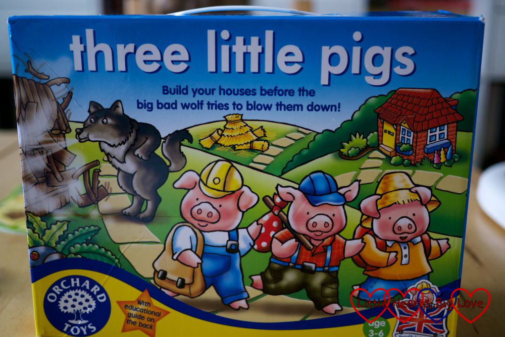 Review: Three Little Pigs board game -  Little Hearts, Big Love
