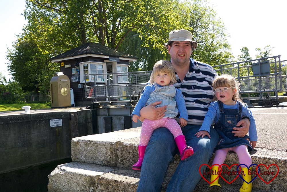 Golden lock gates at Bray and Boveney Locks - Little Hearts, Big Love