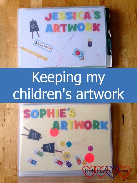 Keeping my children's artwork - Little Hearts, Big Love
