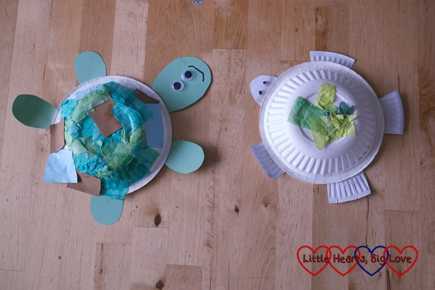 {Paper-bowl turtles: Sea-themed crafts for preschoolers - Little Hearts, Big Love