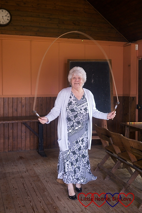 Nanny jumping with a skipping rope - The Friday Focus 26/06/15 - Little Hearts, Big Love