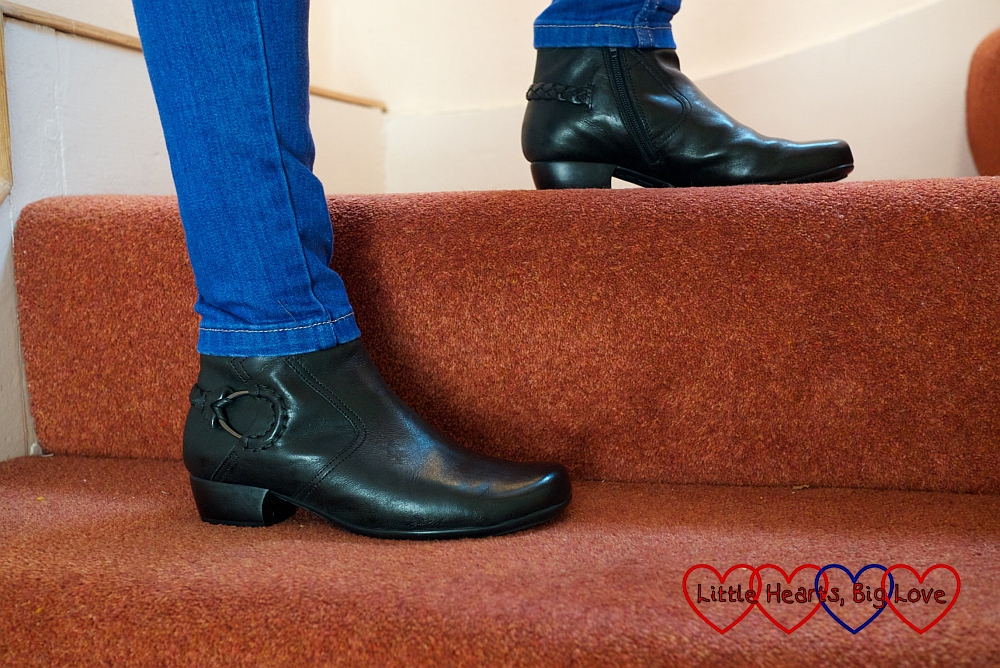 Review: Charles Clinkard Gabor Grove women's ankle boots - Little Hearts, Big Love