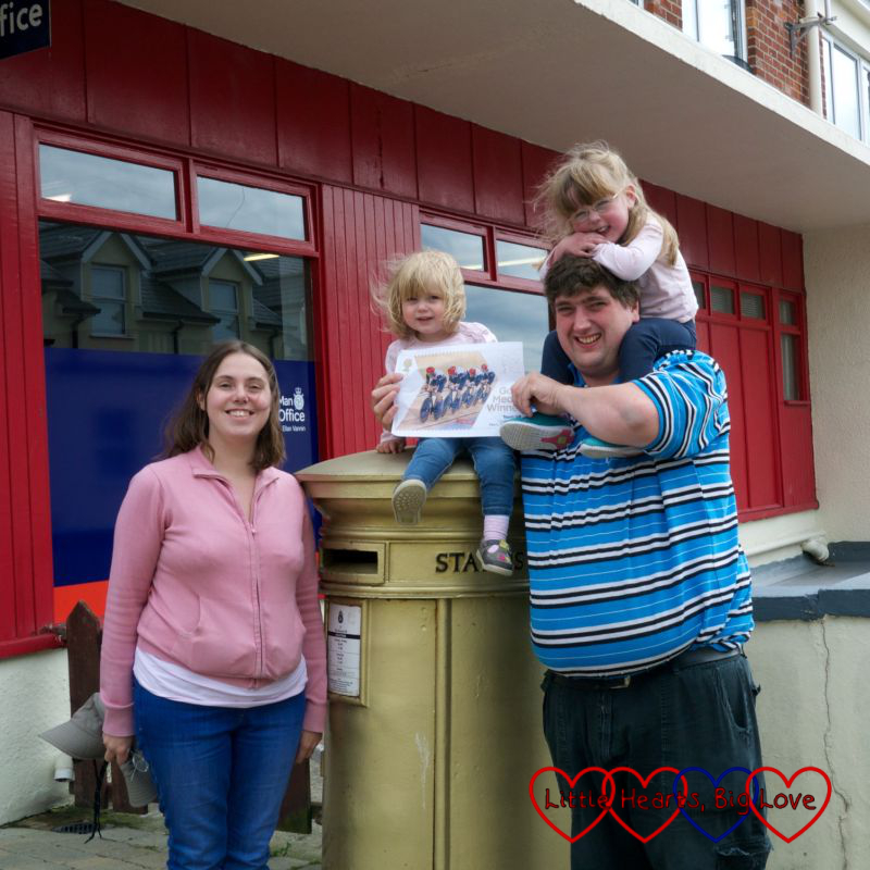 Finding our final gold postbox - Me and Mine (July) - Little Hearts, Big Love