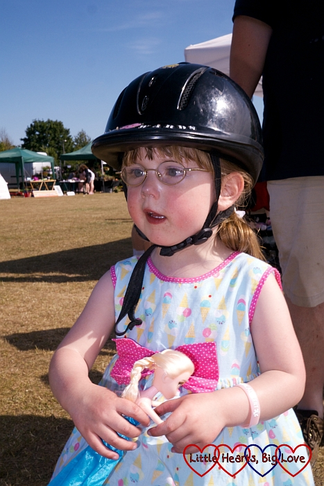 All ready for a pony ride at Party in the Park  - Little Hearts, Big Love