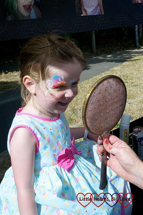 Face painting at Party in the Park  - Little Hearts, Big Love