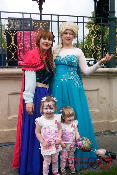 Meeting Elsa and Anna at the Charlie Jones Foundation family fun day - The Friday Focus 03/07/15 - Little Hearts, Big Love