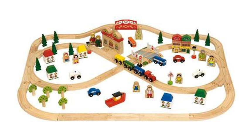 Bigjigs Rail Town and Country Train Set - 5 birthday present ideas from Oldrids & Downtown for toddlers and preschoolers - Little Hearts, Big Love