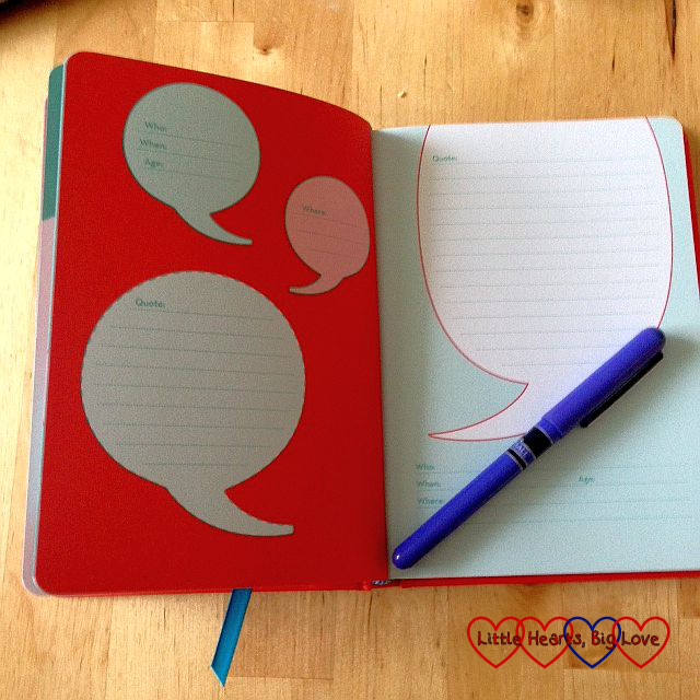 My quotable kid journal - From the mouths of babes #37 - Little Hearts, Big Love