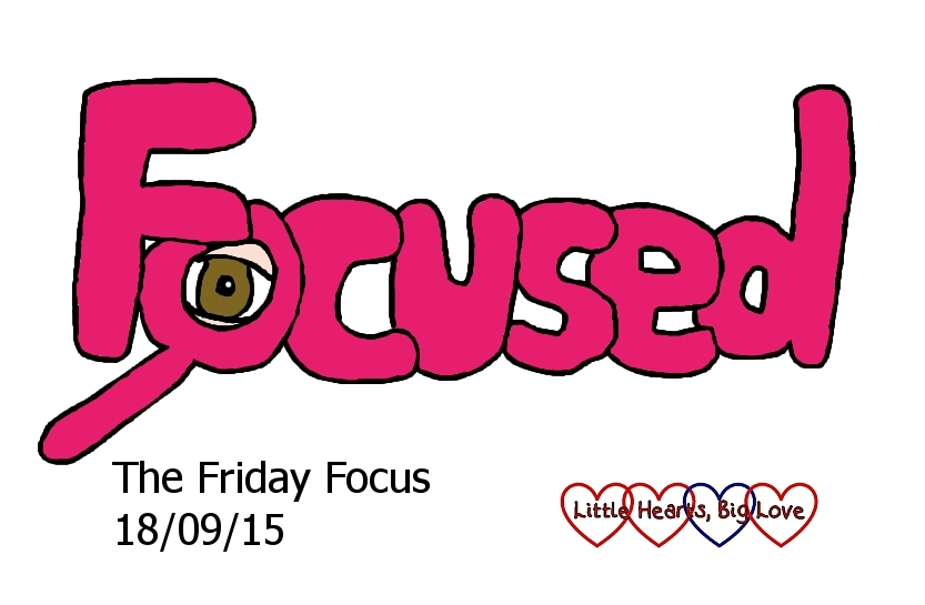 Focused - this week's word of the week.  The Friday Focus 18/09/15 - Little Hearts, Big Love