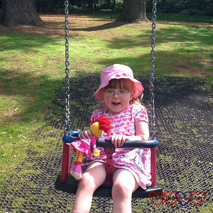 Enjoying the swings in the park - The Friday Focus 18/09/15 - Little Hearts, Big Love