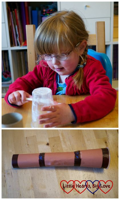 Spyglass - Pirate crafts - Little Hearts, Big Love