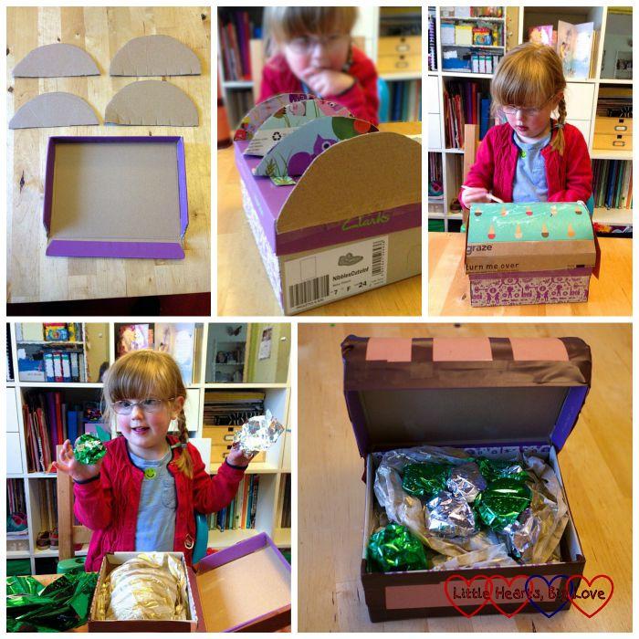 Treasure chest - Pirate crafts - Little Hearts, Big Love