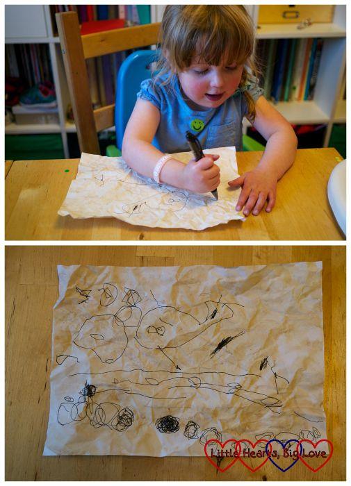 Treasure map - Pirate crafts - Little Hearts, Big Love