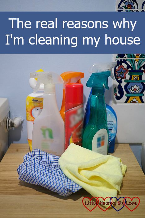 real reasons why i'm cleaning my house - little hearts, big love