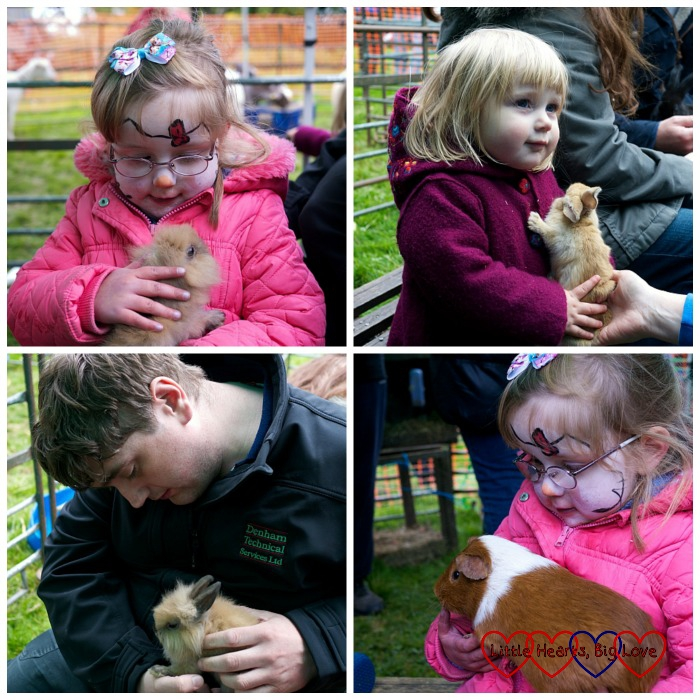 Cuddles with rabbits and guinea pigs - Outdoor fun at Apple Day - Little Hearts, Big Love