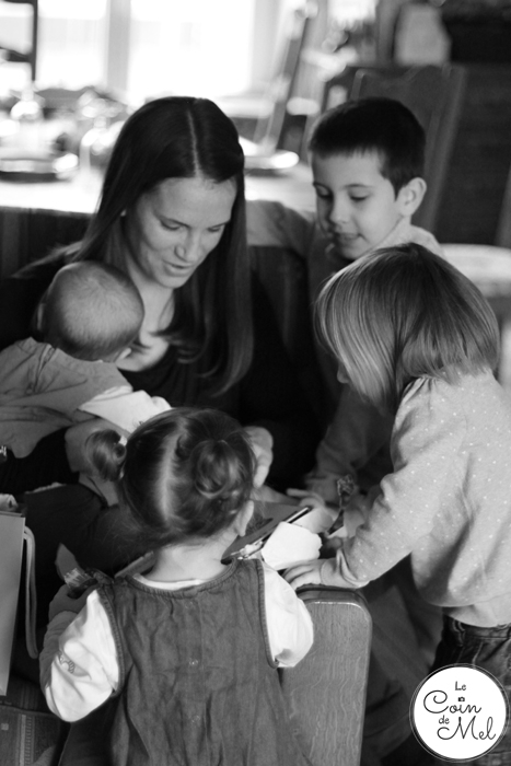 Opening my birthday presents with the little ones - Parenting Pep Talk #4: Le Coin de Mel - Little Hearts, Big Love
