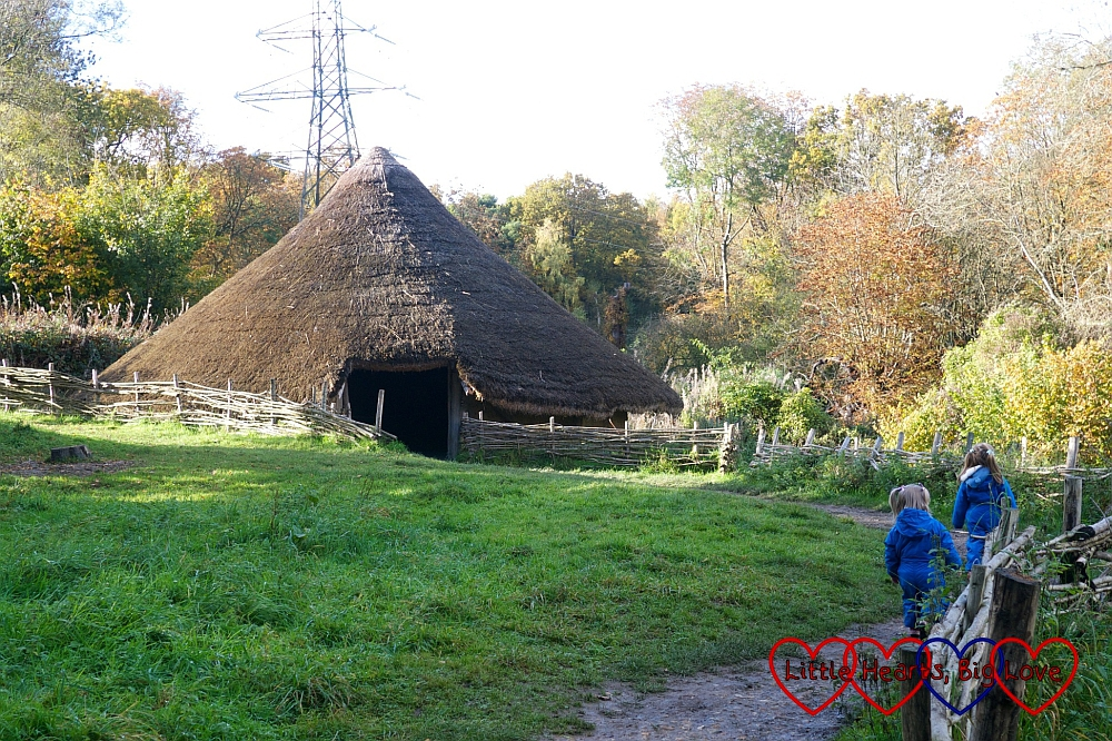 Heading up to the Iron Age hut - An autumn walk at Chiltern Open Air Museum - Little Hearts, Big Love