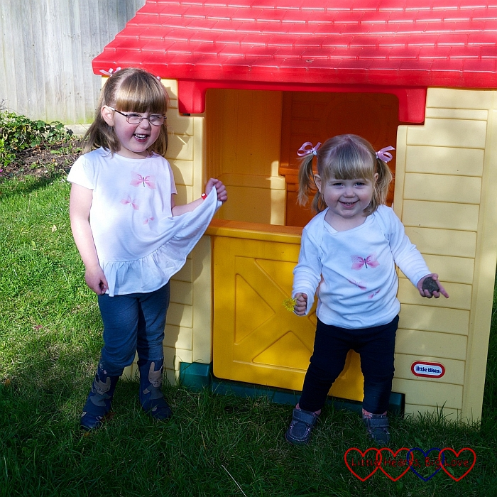 Pink butterflies tops - Review: Children's clothes from Zazzle UK – plus giveaway to win a £50 voucher - Little Hearts, Big Love