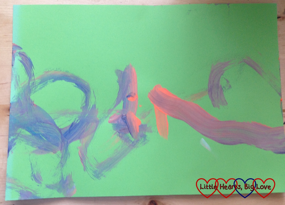The very first painting - 5 types of baby, toddler and preschooler paintings - Little Hearts, Big Love