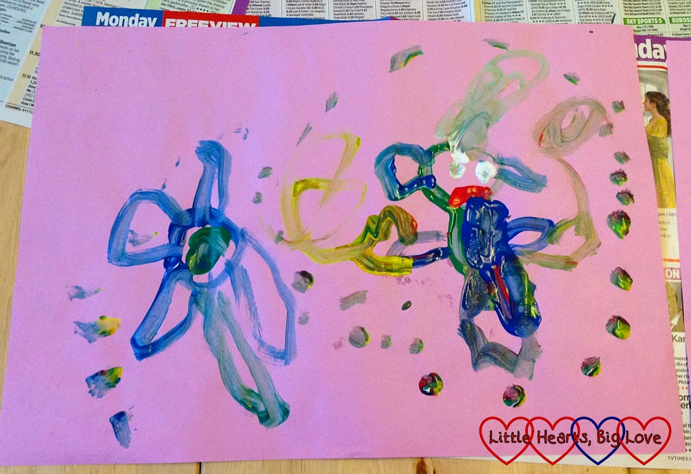 5 types of baby, toddler and preschooler paintings - Little Hearts, Big Love