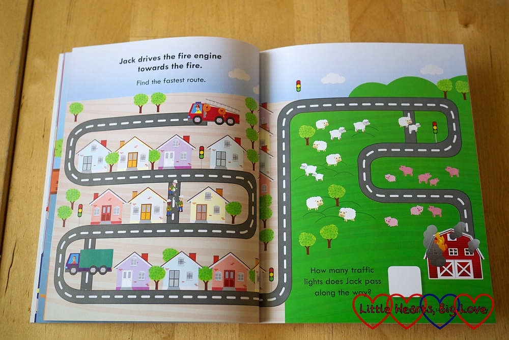 Fire Station activity book - Review - Fire Station Activity Book and Playset from Parragon Books - Little Hearts, Big Love