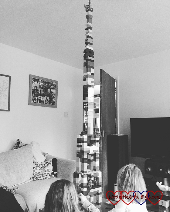 An impressive Duplo tower - The Friday Focus 29/01/16 - Little Hearts, Big Love